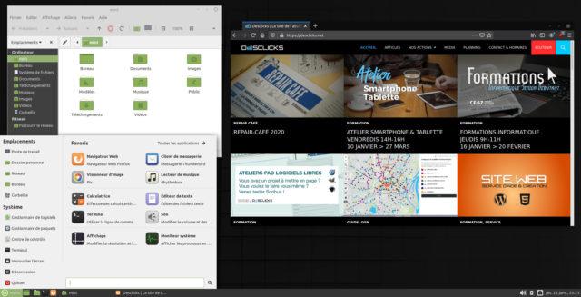 Bureau LinuxMint 19.3