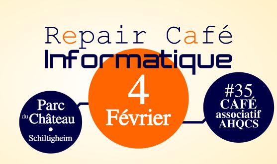 Repair-Café Informatique<br/> 4 Février AHQCS