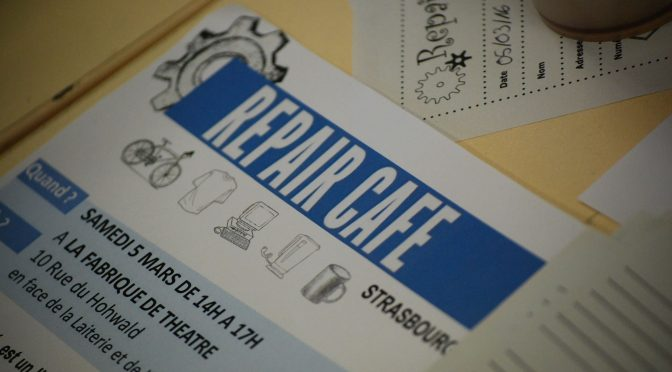 Repair Café – 12 mai – CSC Montagne-Verte, 10 rue d Ostwald – Strasbourg