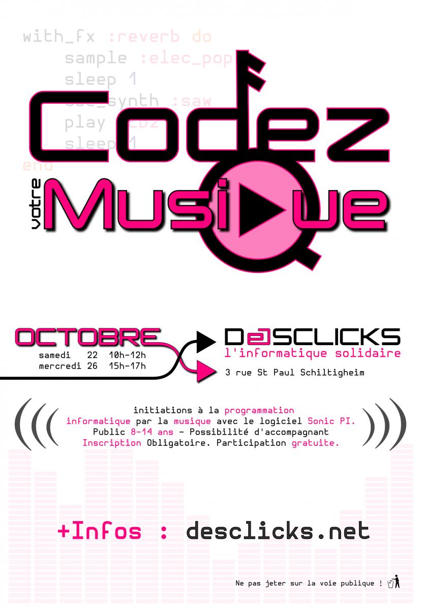 Affiche Codez votre Musique - Sonic-Pi
